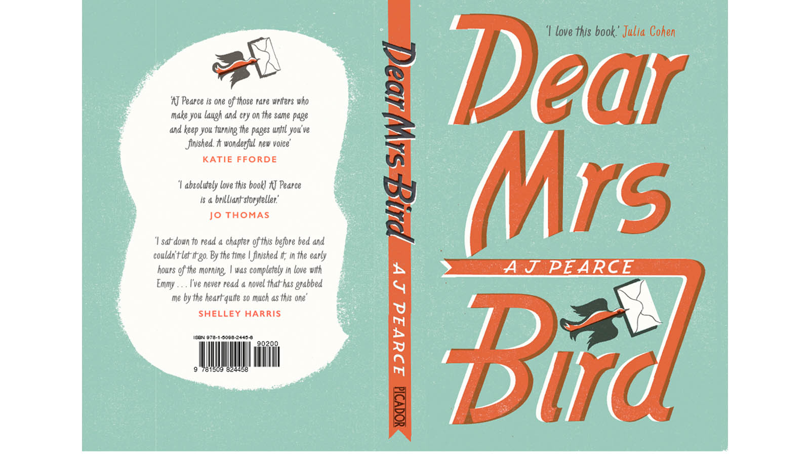 Dear-Mrs-Bird-book-design-cover-AJ-Pearce-Picador