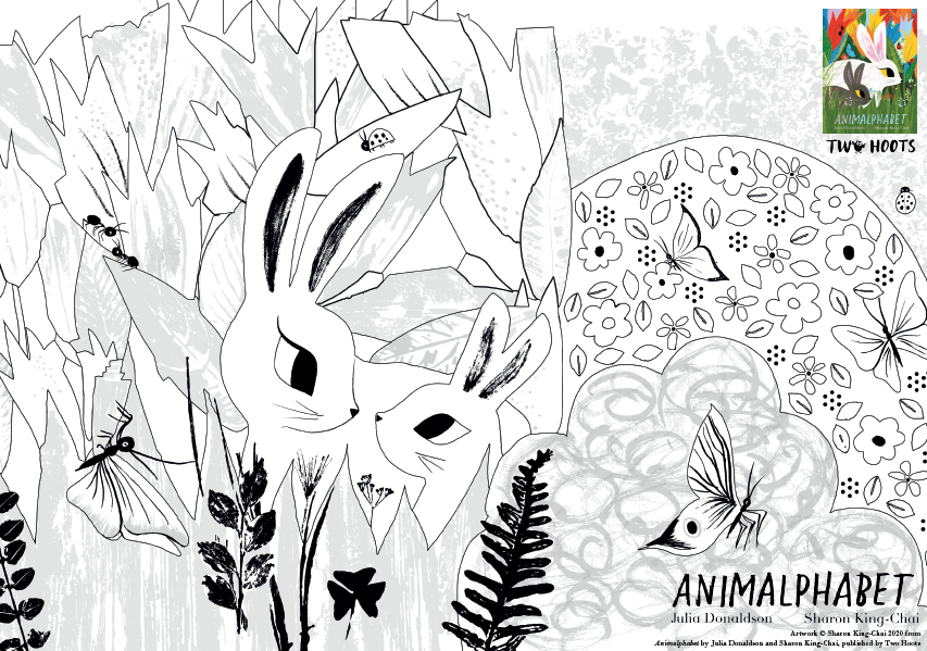 Animalphabet Colouring Sheet