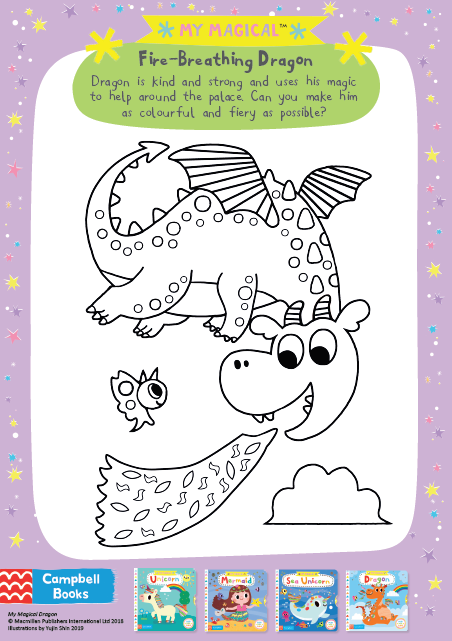 My Magical Dragon Colouring Sheet