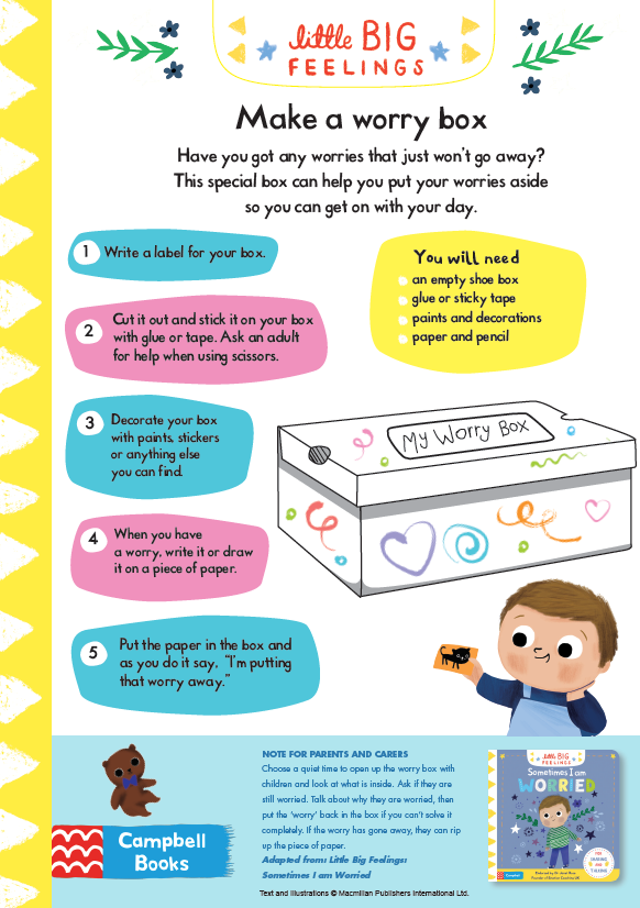 Sometimes I am Worried - Worry Box Activity Sheet