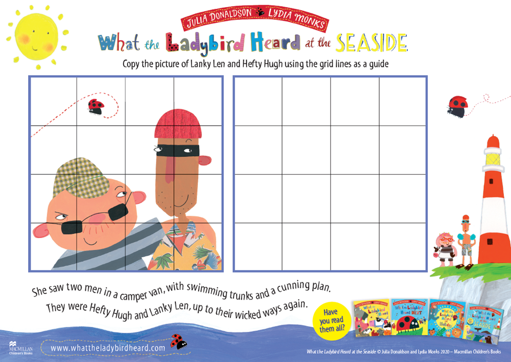 What the Ladybird Heard at the Seaside Activity Sheets