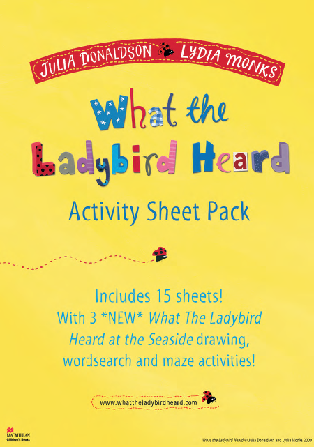 What the Ladybird Heard at the Seaside Activity Sheet Pack