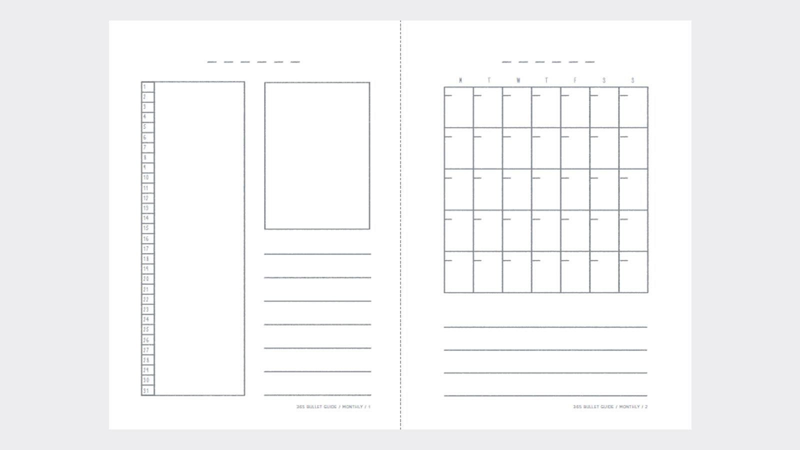 Free Bullet Journal Template Monthly  Free Journal Templates