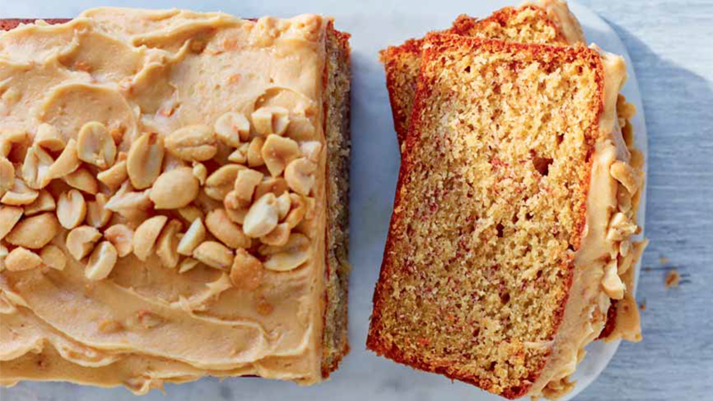 Lorraine pascales banana loaf with peanut butter frost lorraine pascale shares her delicious and easy banana bread recipe from her irresistible new book bake forumfinder Image collections