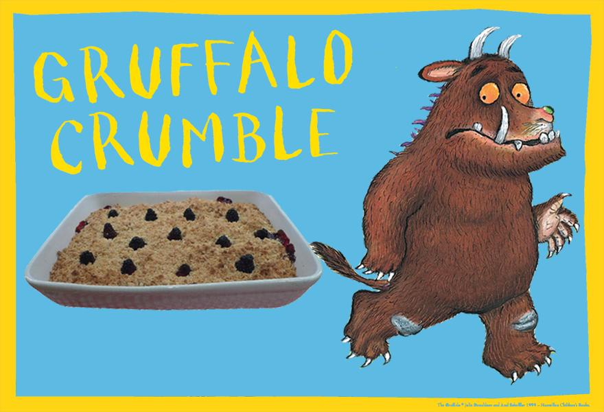 Make your own gruffalo crumble
