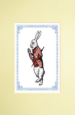The Macmillan Alice: White Rabbit print