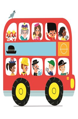 London Stationery: London Bus Print