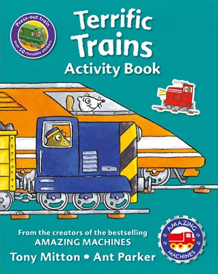 Book cover for Amazing Machines Terrific Trains...