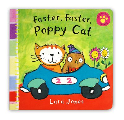 Book cover for Faster, Faster, Poppy Cat