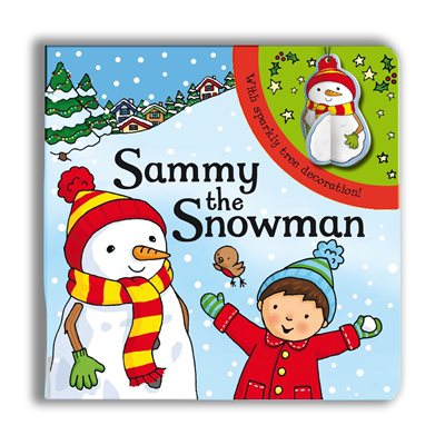 Book cover for Sparkly Christmas: Sammy the Snowman!