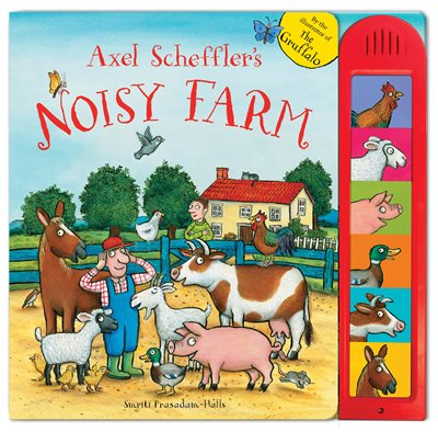Book cover for Axel Scheffler's Noisy Farm
