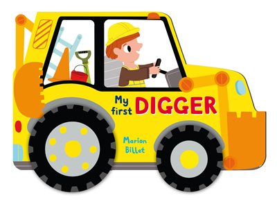 Book cover for Whizzy Wheels: My First Digger