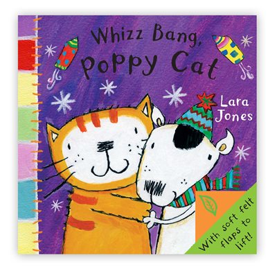 Book cover for Poppy Cat Peekaboos: Whizz Bang...