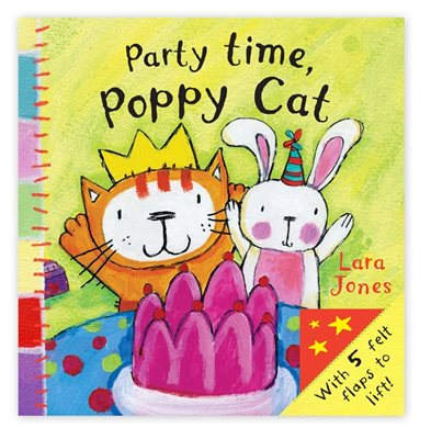 Book cover for Poppy Cat Peekaboos: Party Time...