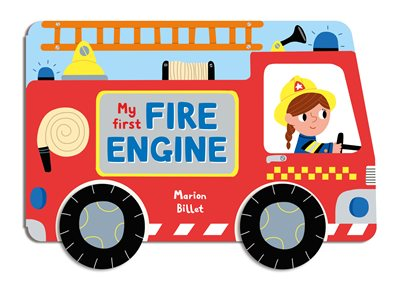 Book cover for Whizzy Wheels: My First Fire Engine
