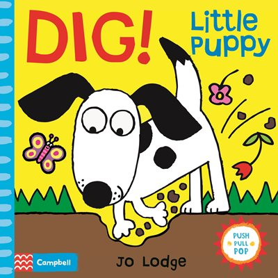 Book cover for Dig! Little Puppy