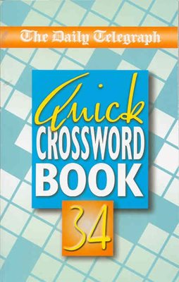 Book cover for Daily Telegraph Quick Crossword Book 34