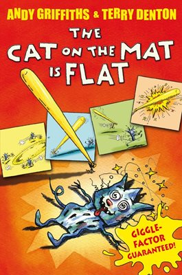 Book cover for The Cat on the Mat is Flat