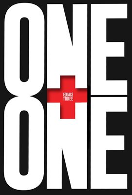 Book cover for One Plus One Equals Three