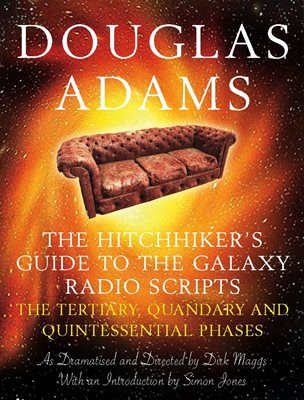Book cover for The Hitchhiker's Guide to the Galaxy...