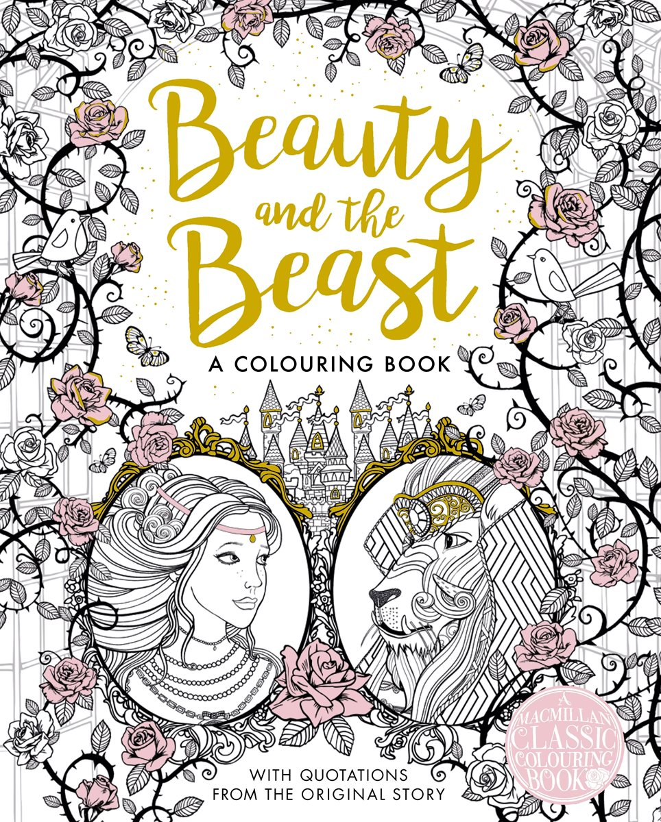 the beauty and the beast colouring book by gabrielle suzanne de villeneuve - Beauty And The Beast Coloring Book
