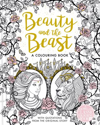 Book cover for The Beauty and the Beast Colouring Book
