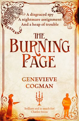 Book cover for The Burning Page
