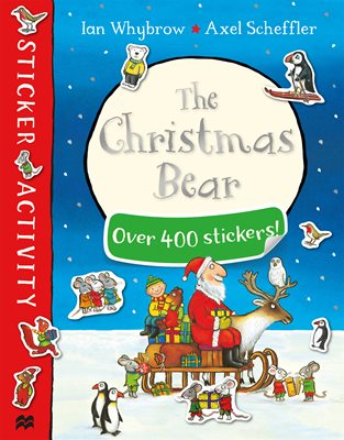 Book cover for The Christmas Bear Sticker Book