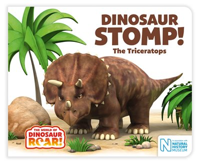 Book cover for Dinosaur Stomp! The Triceratops