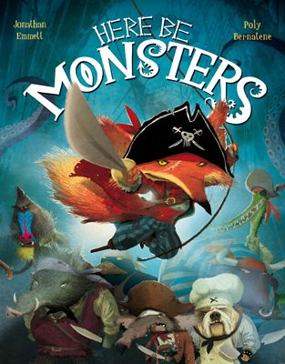 Book cover for Here Be Monsters