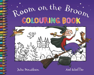 Book cover for Room on the Broom Colouring Book