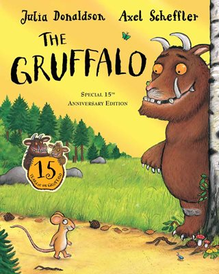 Book cover for The Gruffalo 15th anniversary edition