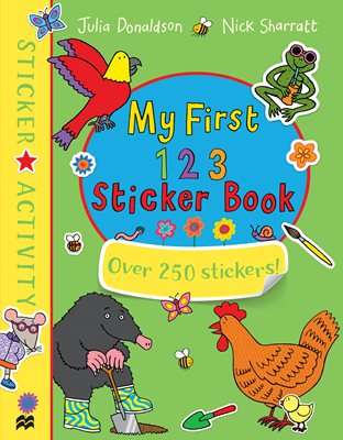 Book cover for My First 123 Sticker Book