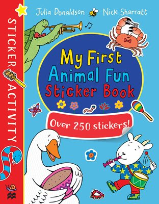 Book cover for My First Animal Fun Sticker Book
