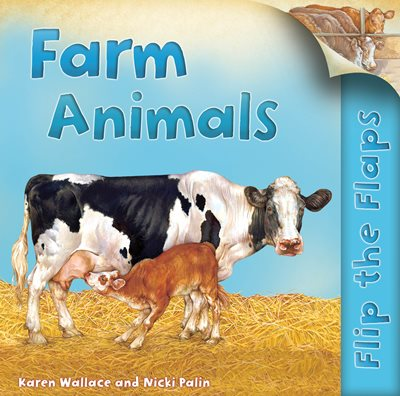 Book cover for Flip the Flaps: Farm Animals
