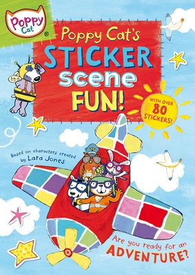 Book cover for Poppy Cat's Sticker Scene Fun
