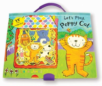 Book cover for Let's Play, Poppy Cat