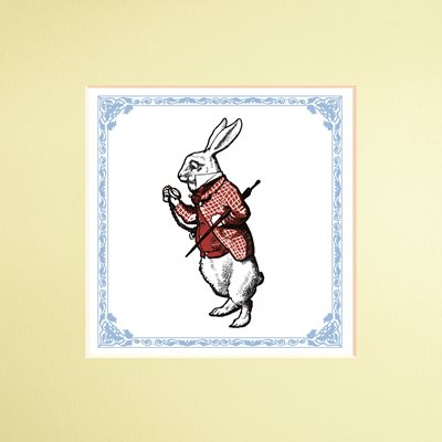 Book cover for The Macmillan Alice: White Rabbit print
