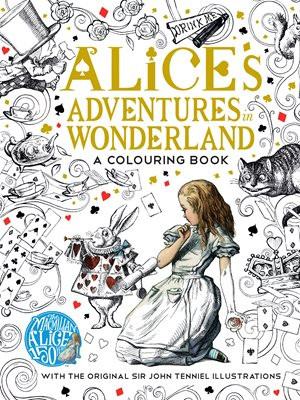 Book cover for The Macmillan Alice Colouring Book