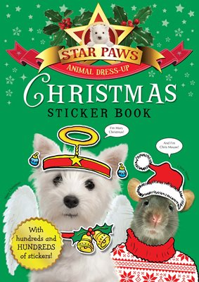 Book cover for Christmas Sticker Book: Star Paws