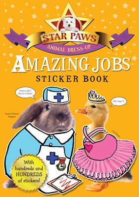 Book cover for Amazing Jobs Sticker Book: Star Paws