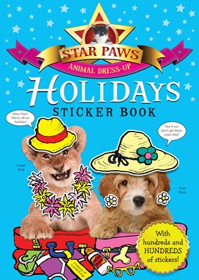 Book cover for Holidays Sticker Book: Star Paws