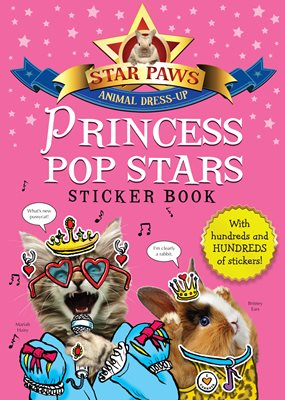 Book cover for Princess Pop Stars Sticker Book: Star...