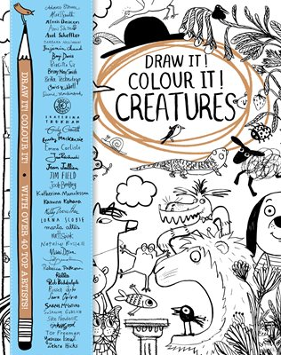 Book cover for Draw it! Colour it! Creatures