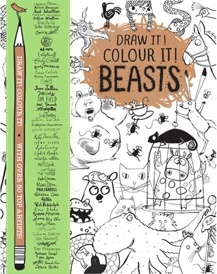 Book cover for Draw it! Colour it! Beasts