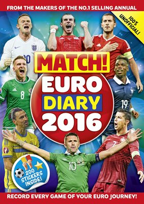 Book cover for Match! Euro 2016 Diary: Record every game of your Euro journey 100% unofficial