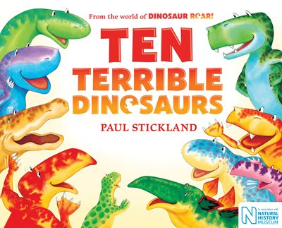 Book cover for Ten Terrible Dinosaurs