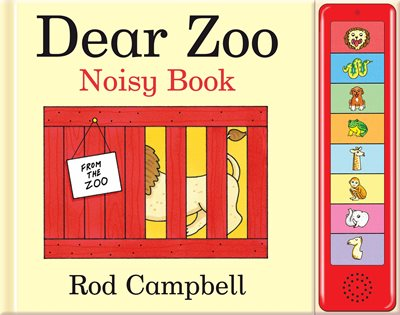 Book cover for Dear Zoo Noisy Book