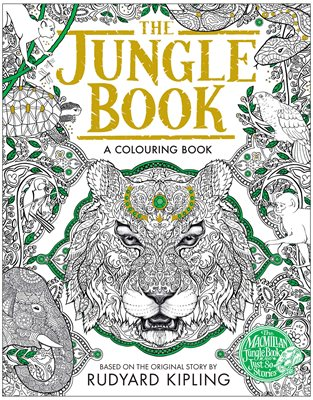 Book cover for The Jungle Book Colouring Book
