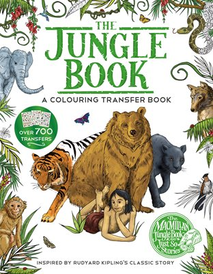 Book cover for The Jungle Book: A Colouring Transfer...